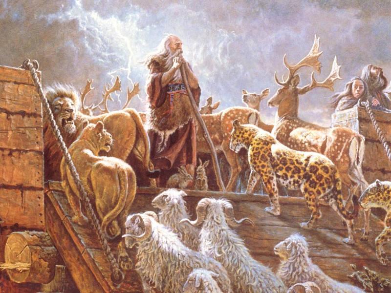 Noah và chiếc thuyền cứu thế của mình.