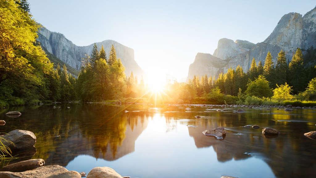Vườn quốc gia Yosimite, California với không gian trong lành, thanh mát.