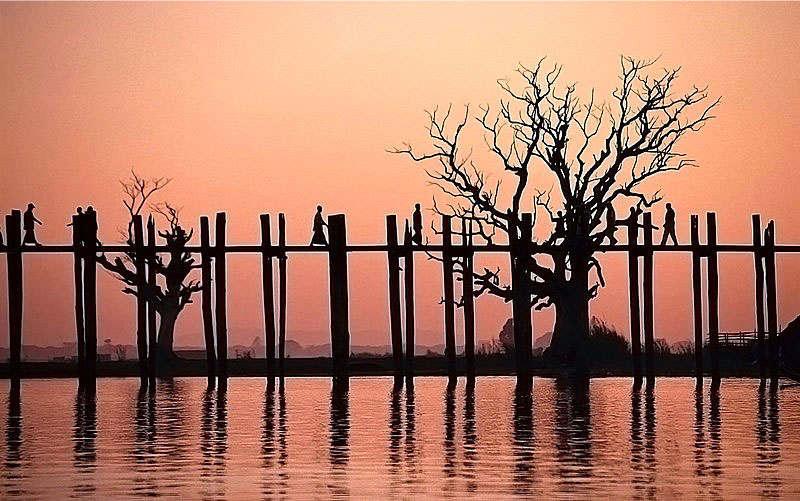 Cầu U Bein là cây cầu gỗ dài nhất thế giới..