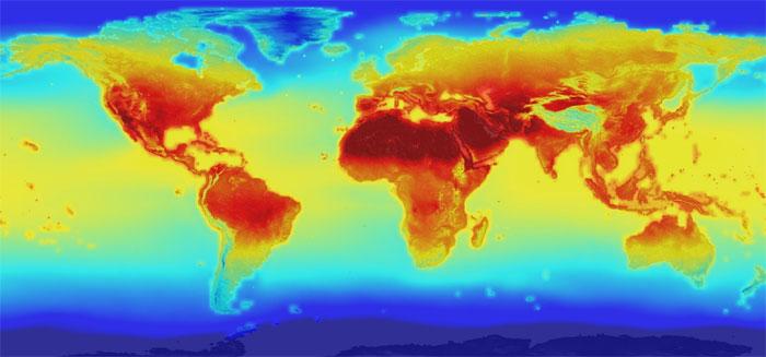 Bắt đầu với năm 2100, khi đó nhiệt độ Trái đất sẽ tăng thêm khoảng 2,2 độ C so với năm 2016.