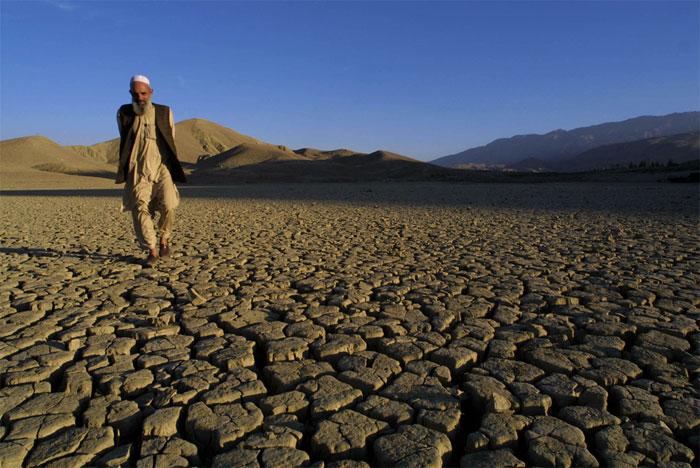 Trong khi nhiều nơi ngập dưới nước biển, có những vùng đất vẫn bị hạn hán.