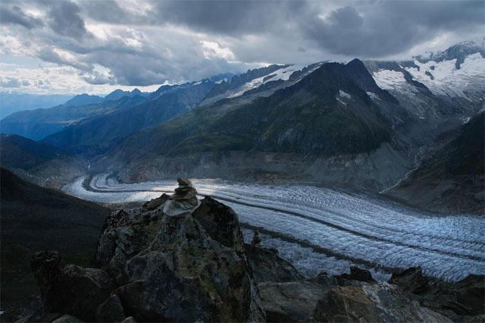 Dòng sông băng khổng lồ trên dãy Alps của Châu Âu sẽ hoàn toàn biến mất.
