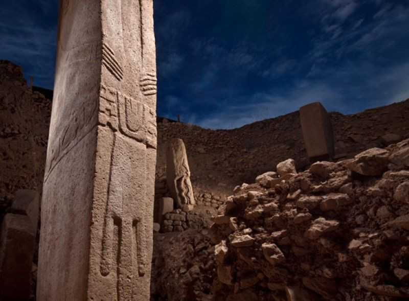 Các cột đá trong khu di tích Gobekli Tepe.