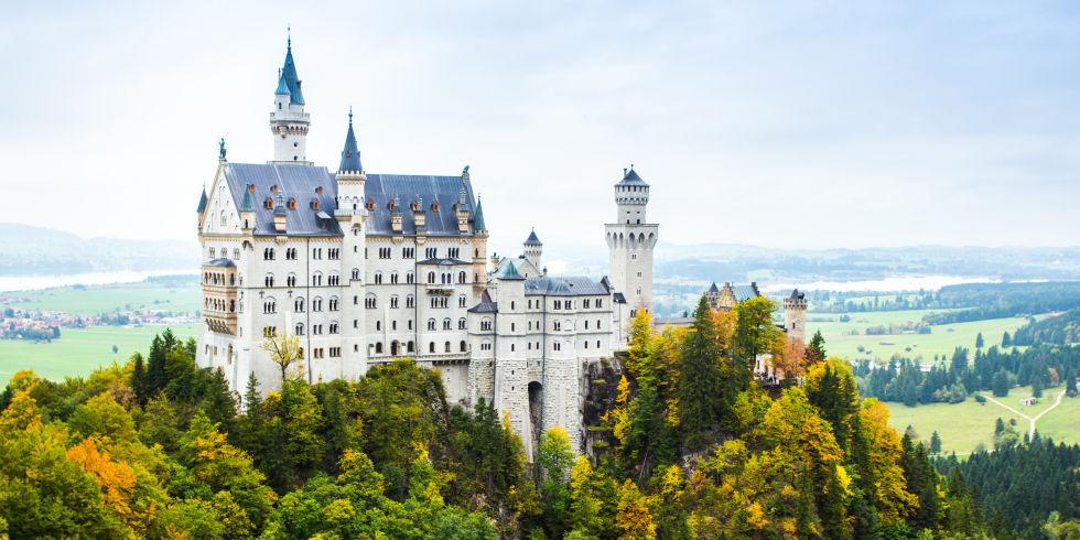 Lâu đài Schloss Neuschwanstein ở Đức.