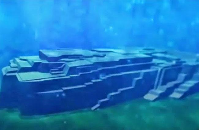 Đài tưởng niệm dưới biển.