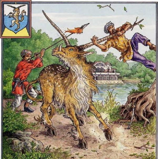 Sừng của loài Yale có khả năng quay và thay đổi hướng để tấn công con mồi và đối thủ ở bất cứ phương hướng nào.
