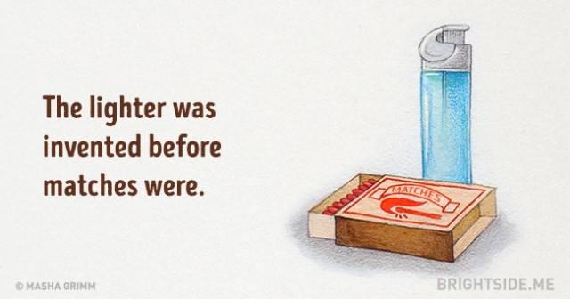 Bật lửa được phát minh trước quẹt diêm