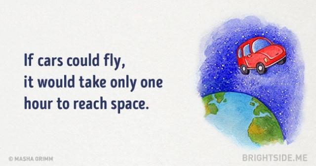 Nếu những chiếc xe hơi có thể bay, thì chỉ mất một giờ để lên tới không gian