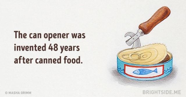 Các dụng cụ mở hộp được phát minh sau khi có thực phẩm đóng hộp 48 năm