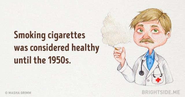 Hút thuốc lá được xem là lành mạnh mãi cho đến những năm 1950