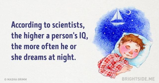 Theo các nhà khoa học, người có chỉ số IQ càng cao, thì thường mơ nhiều hơn vào ban đêm