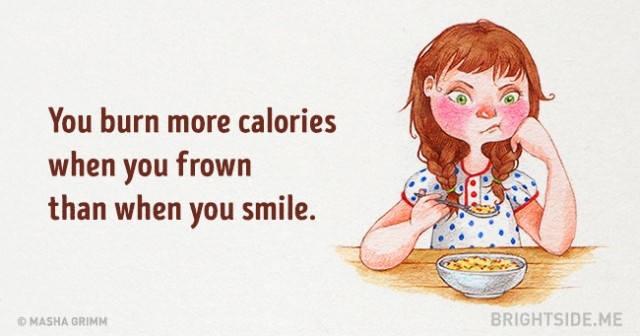 Khi bạn nhăn mặt, bạn đốt cháy nhiều calorie hơn so với khi bạn cười