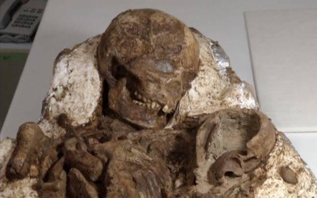 Hóa thạch mẹ và bé có niên đại 4.800 năm được tìm thấy ở Đài Loan.