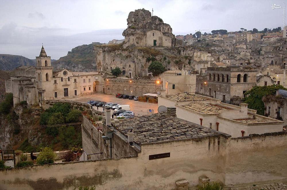 Một góc thành phố Matera.