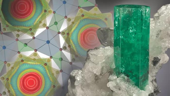 Minh họa hình dáng kỳ lạ của phân tử nước bên trong ống beryl