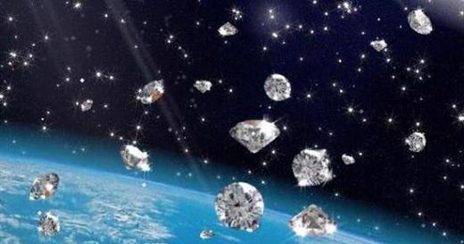 Kim cương hình thành giữa bầu khí quyển của Thổ tinh và Mộc tinh.