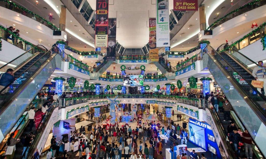 Hình ảnh chụp tại khu mua sắm phía Nam thành phố Kolkata, Ấn Độ
