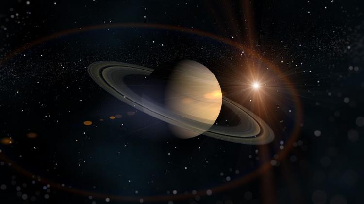 Áp suất siêu lớn trên Thổ tinh cô đặc carbon thành những viên kim cương trôi nổi trong biển khí methane và hydro lỏng.