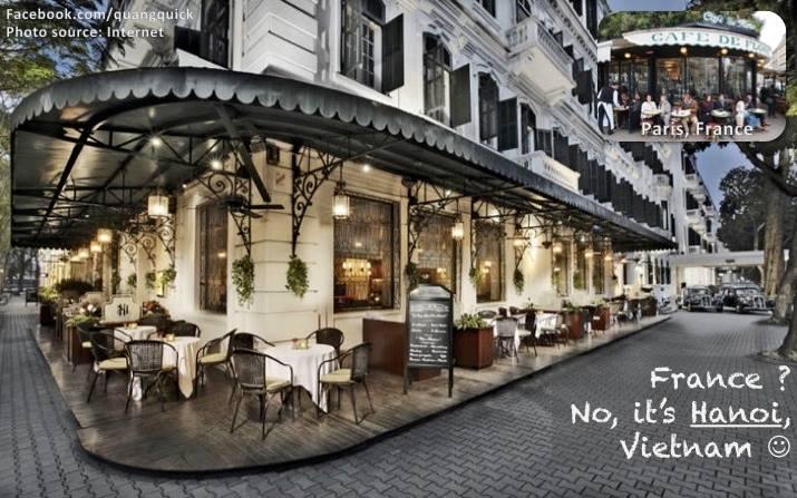 Muốn cà phê sang chảnh như ở Paris, Pháp hả? Địa chỉ cho bạn là góc cà phê xinh đẹp của khách sạn Sofitel Legend Metropole trên phố Ngô quyền