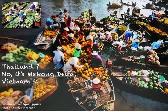 Muốn biết cảm giác đi chợ nổi, đừng đến Thái Lan. Hãy đến ngay đồng bằng Sông Cửu Long thôi, bạn cũng sẽ có trải nghiệm tuyệt vời ấy.