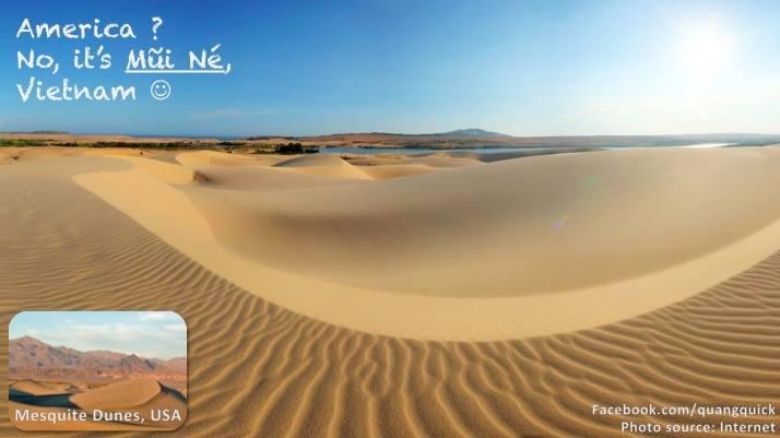 Mesquite Dunes của Mỹ nổi tiếng với đồi cát thì Mũi Né Việt Nam cũng chẳng hề kém cạnh đâu nhé.