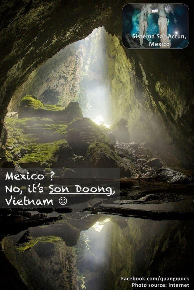 Bạn ưa mạo hiểm và muốn khám phá những hang động kì vĩ? Chẳng cần đến Mexico đâu vì Sơn Đoòng đã quá đủ để bạn được thỏa nguyện!
