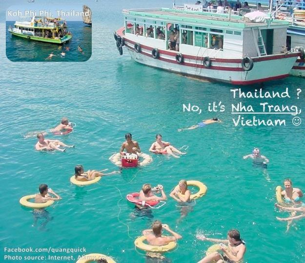 Đảo Koh Phi Phi nổi tiếng là nơi lặn biển tuyệt đẹp của Thái Lan thì Nha Trang của Việt Nam ta cũng chẳng hề thua kém với rạn san hô và làn nước xanh ngọt, trong vắt.