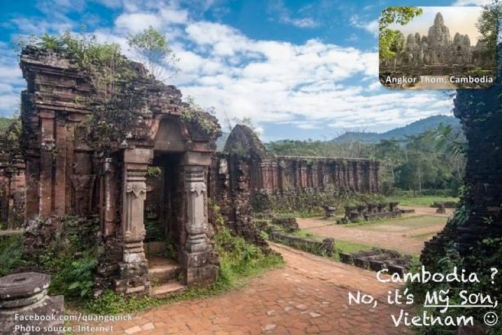 Đền Angkor Thom, Cambodia? Không đây là thánh địa Mỹ Sơn ấy!