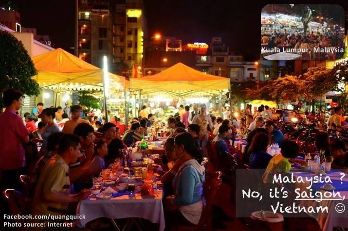 Khu chợ đêm tấp nập này không phải là Malaysia đâu, mà là ở Sài Gòn đấy!