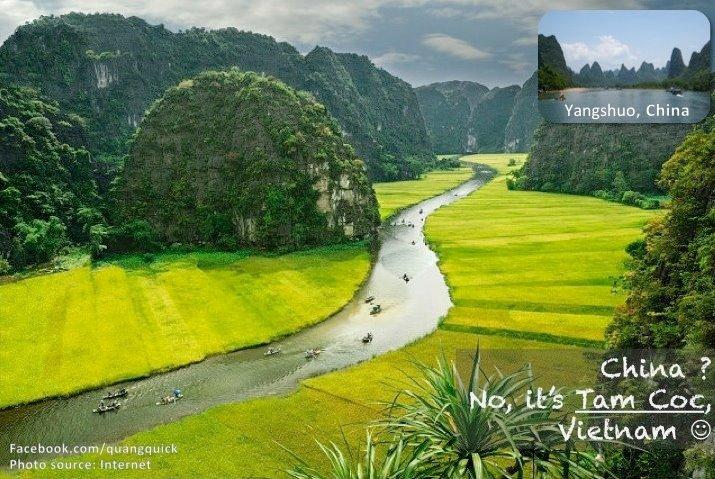 Và đây cũng không phải là Dương Sóc đâu mà chính là Tam Cốc của tỉnh Ninh Bình đấy.