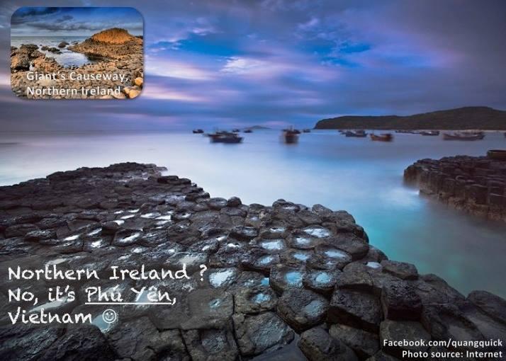 Bạn ước mơ được trải nghiệm ghềnh đá dĩa? Không cần đến tận Giant Causeway ở Ireland đâu, đến Phú Yên là đủ rồi.