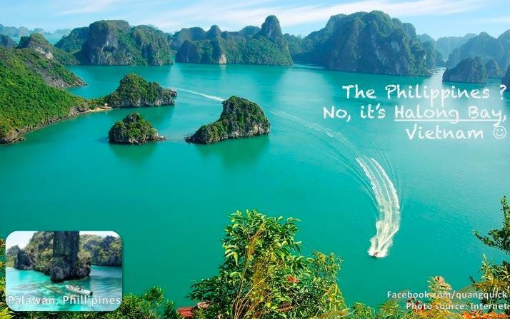 Đừng nhầm lẫn giữa vịnh Hạ Long với Palawan của Phillipines nhé!