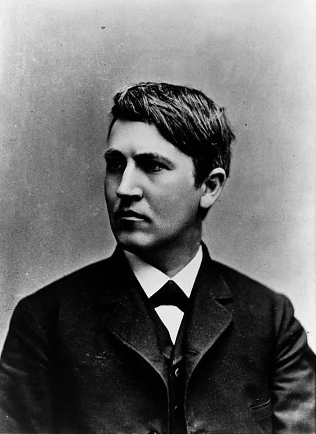 Thomas Edison là một chàng thanh niên khỏe mạnh, nhiều thiện cảm và vui tính.