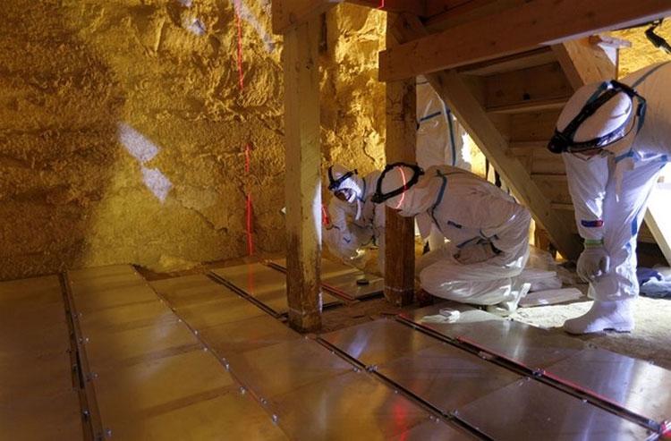 Hình ảnh thu được cho thấy căn buồng bí mật của kim tự tháp nằm ở khoảng sâu 18 mét.
