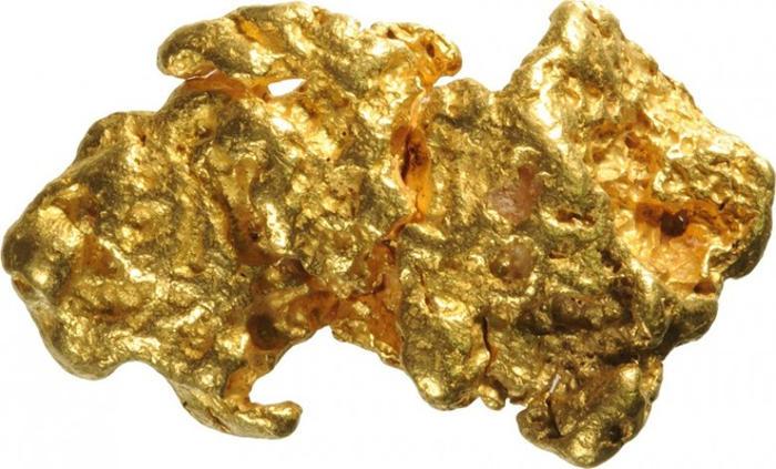 Khối vàng tự nhiên nặng hơn 4kg