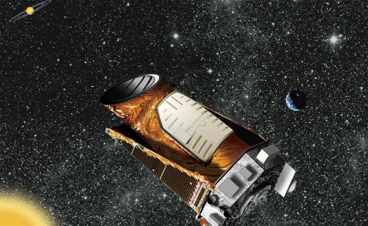 Hình chụp kính thiên văn Kepler ngoài không gian.
