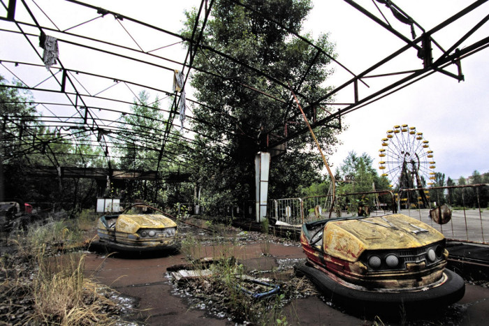 Một vùng hoang tàn và chết chóc khi các chất bức xạ phóng xạ