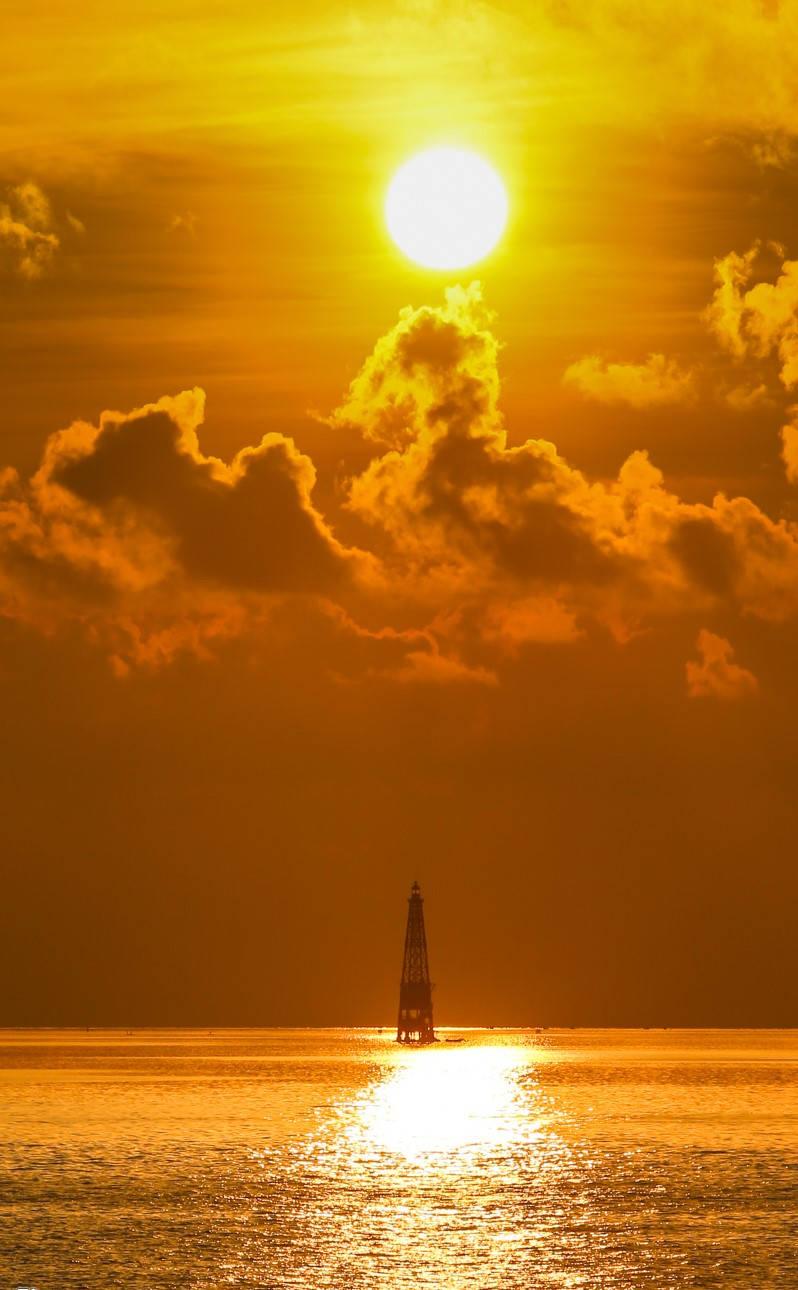 Hải đăng trên đảo Đá Lát ở cực tây quần đảo Trường Sa, thuộc xã đảo Trường Sa, huyện Trường Sa (Khánh Hòa)
