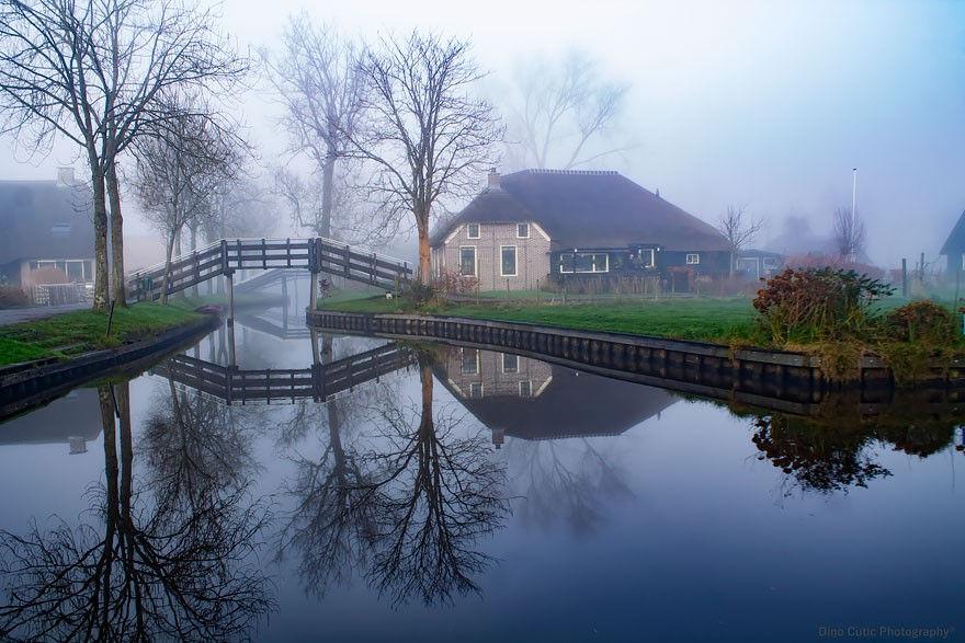 Giethoorn là ngôi làng rất yên bình.