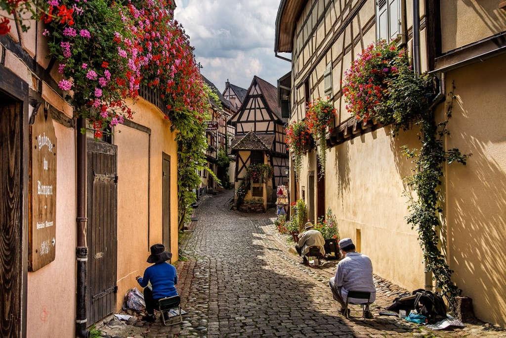 Làng Eguisheim, Pháp