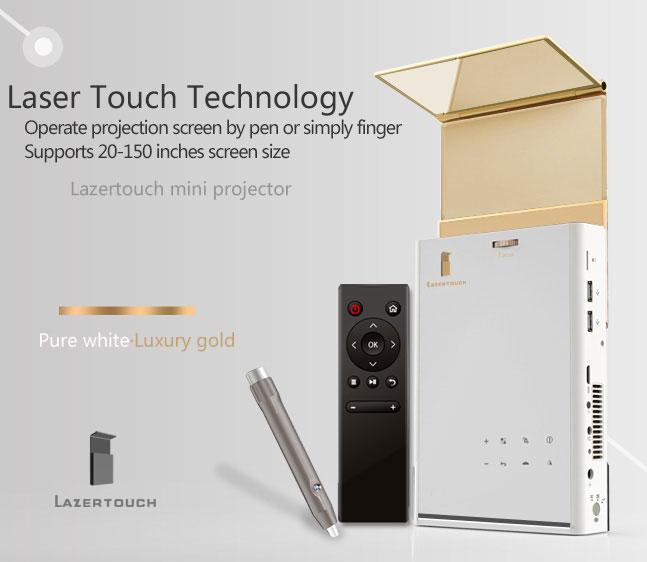 Lazertouch Mini Projector cũng hỗ trợ Wi-Fi và Bluetooth.