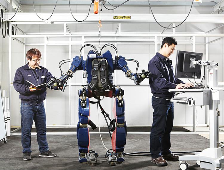Bộ giáp robot này sẽ được ứng dụng trong các nhà máy.