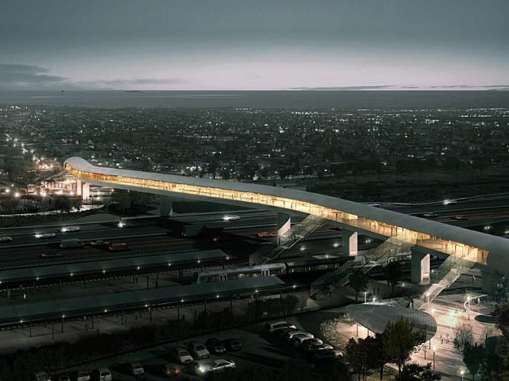 Cầu nhà ga Bắc Køge ở Køge, Đan Mạch