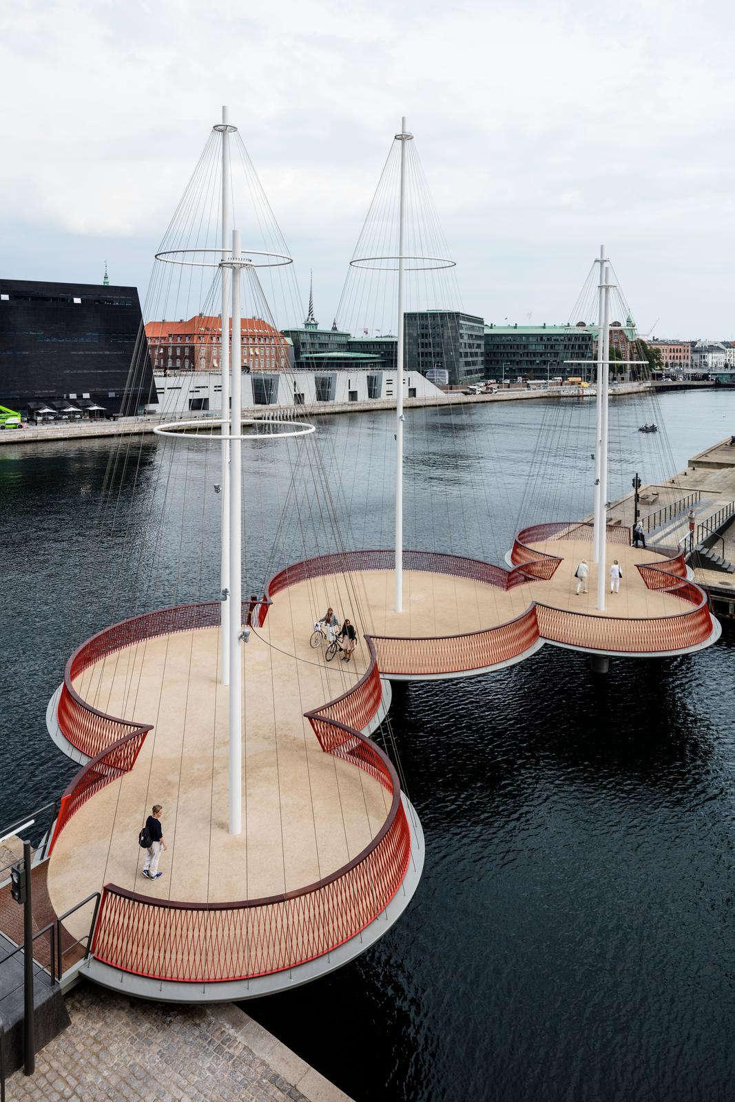 Cây cầu Cirkelbroen tại Đan Mạch
