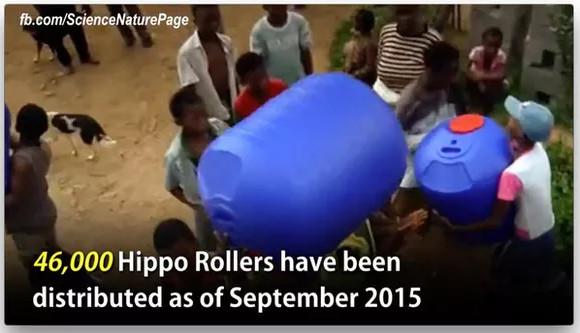 """Tính tới tháng 9 năm 2015 đã có 46.000 bình """"hà mã"""" được cung cấp cho người dân châu Phi."""