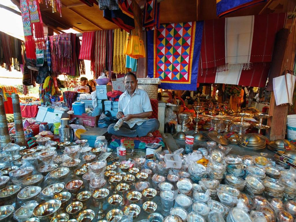 Một gian hàng ở chợ Thimpu.