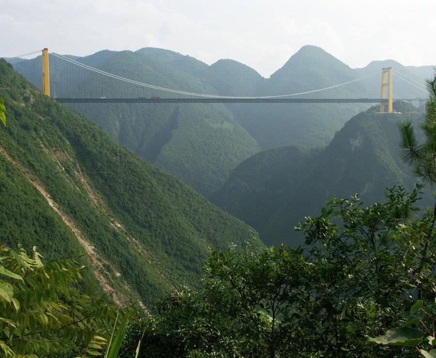 Nằm ở độ cao 496 m so với mặt nước, cầu Siduhe giành kỷ lục cây cầu cao nhất thế giới.