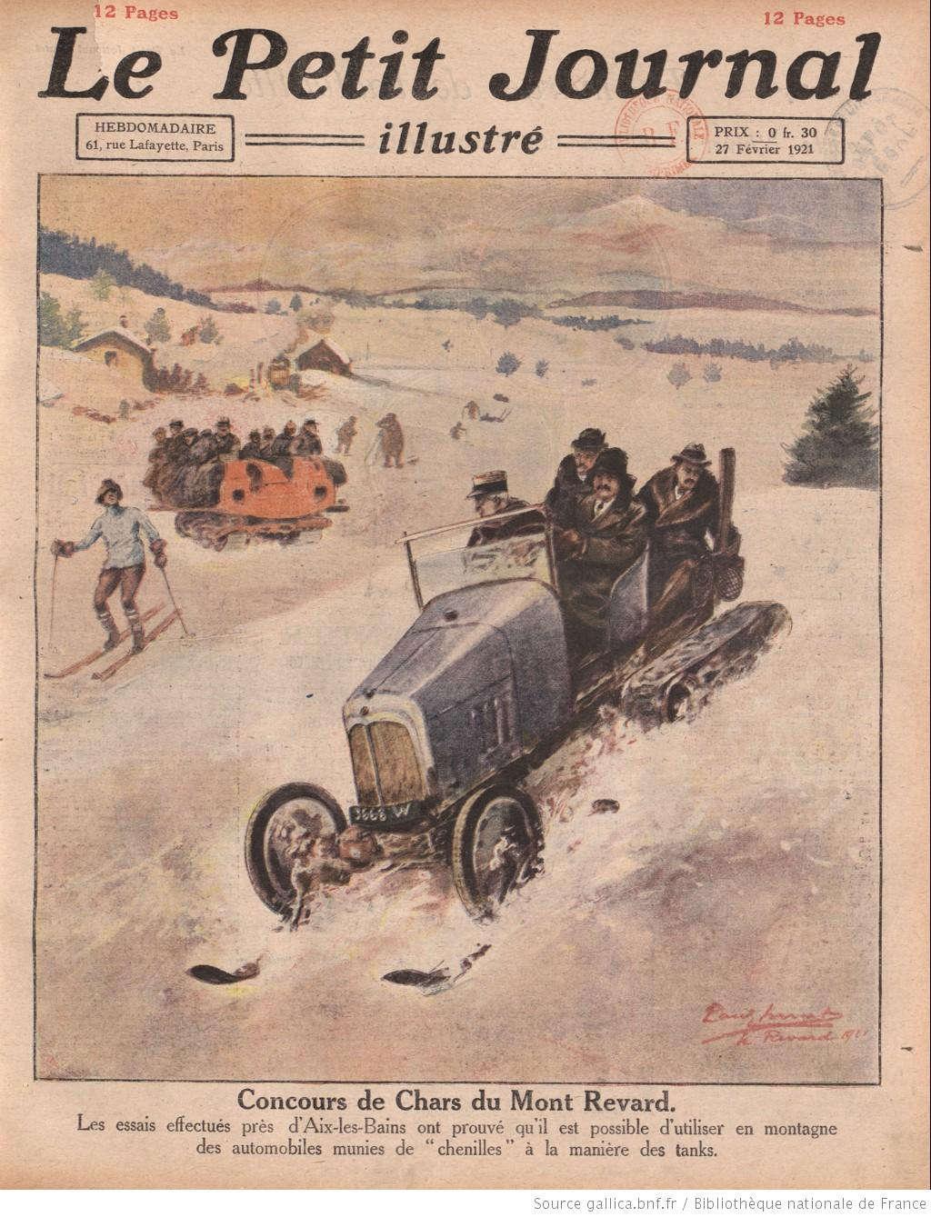 """Người xưa tin rằng, con người tương lai sẽ thoải mái ngồi trên """"xế hộp"""" được trang bị lốp đặc biệt để dạo chơi thưởng ngoạn cảnh núi tuyết."""