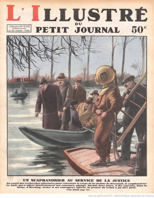 Với trang phục lặn tân tiến như vậy, sẽ không quá khó để một thợ lặn lặn xuống sông Seine nhằm tìm ra những bằng chứng phá vụ trọng án.