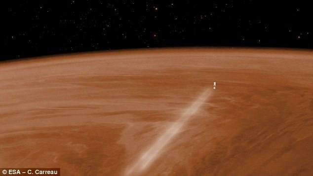 Ở các vùng cực trên sao Kim, những nơi này có nhiệt độ rất thấp xuống tới -250 độ F.